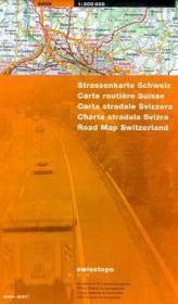 Strassenkarte Schweiz (1 Kartenblatt) - Landestopographie