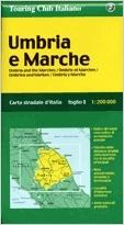 Umbria e Marche autótérkép - TCI