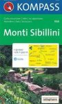 Monti Sibillini turistatérkép (WK 666) - Kompass