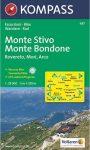 Monte Stivo, Monte Bondone turistatérkép (WK 687) - Kompass
