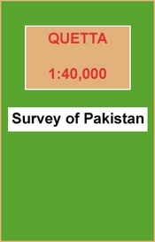 Quetta térkép - Survey of Pakistan
