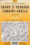 Grand St-Bernard, Combins & Arolla, hiking map (5027T) - Landestopographie