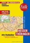 Hessen és Türingia minden városa atlasz - Falk