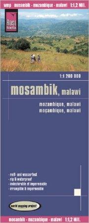 Mozambik, Malawi térkép - Reise Know-How