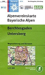 Berchtesgaden, Untersberg - Alpenvereinstkarte BY22