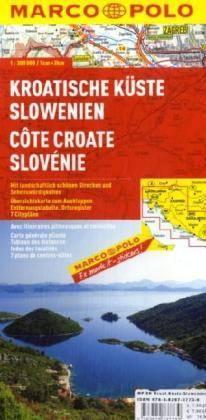 Horvát tenngerpart, Szlovénia térkép - Marco Polo