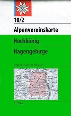 Hochkönig, Hagengebirge - Alpenvereinskarte 10/2