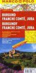 Burgundia, Franche Comté, Jura térkép - Marco Polo