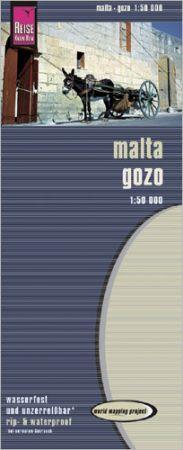 Málta és Gozo térkép - Reise Know-How