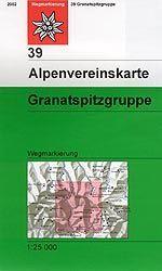 Granatspitzgruppe - Alpenvereinskarte 39