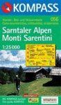Monti Sarentini turistatérkép (WK 056) - Kompass