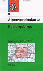 Kaisergebirge - Alpenvereinskarte 8