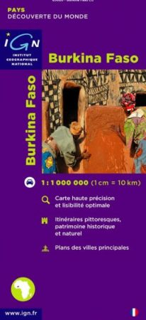 Burkina Faso térkép - IGN