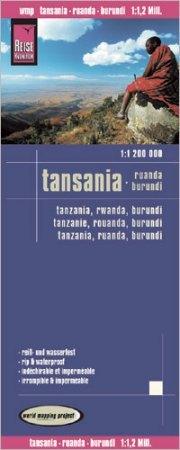 Tanzánia térkép - Reise Know-How