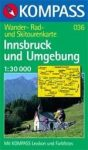 Innsbruck és környéke turistatérkép (WK 036) - Kompass
