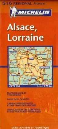 Alsace / Lorraine - Michelin 516