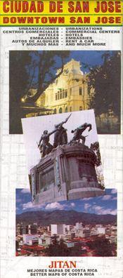 San José térkép - Jiménez & Tanzi