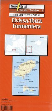 Elvissa/Ibiza - Formentera térkép - Geoestel