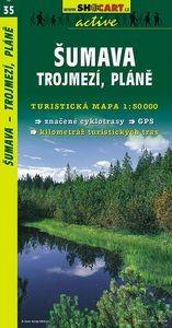 Sumava, Trojmezí, Pláně turistatérkép (35) - SHOCart