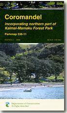 Coromandel turistatérkép - Dep. of Conservation