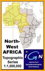 Marrakech térkép - Topographic Maps of NW Africa