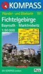 Fichtelgebirge, Bayreuth, Marktredwitz turistatérkép (WK 191) - Kompass