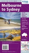 Melbourne to Sydney Hema City to City Road Maps - térkép