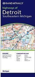 Detroit & Southeastern Michigan, MI térkép - Rand McNally