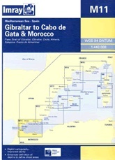 Gibraltar to Cabo de Gata & Morocco Chart M11 - Imray
