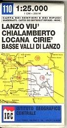 Lanzo - Viù - Chialamberto - Locana térkép (No 110) - IGC