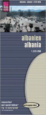 Albánia térkép - Reise Know-How