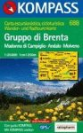 Gruppo di Brenta turistatérkép (WK 688) - Kompass