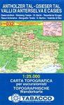 Antholzer Tal, Gsieser Tal (Valli di Anterselva e Casies) térkép (032) - Tabacco