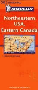 Északkelet-USA, Kelet-Kanada - Michelin 583