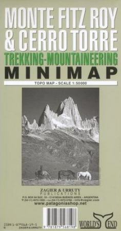 Monte Fitzroy & Cerro Torre minitérkép - Zagier y Urruty