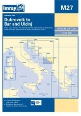 Dubrovnik to Bar & Ulcinj Chart M27 - Imray