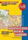 Bréma, Hamburg és Alsó-Szászország minden városa atlasz - Falk