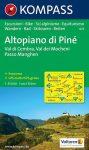 Altopiano di Piné turistatérkép (WK 075) - Kompass