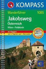 Jakobsweg Österreich Wien-Feldkirch - KOmpass WF 1085