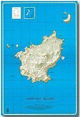 Antipodes Islands térkép - Land Information