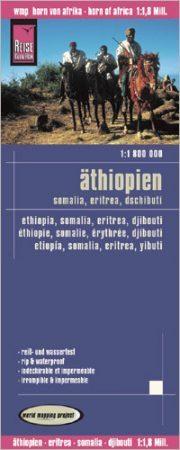 Etiópia, Szomália, Erítrea és Dzsibuti térkép - Reise Know-How