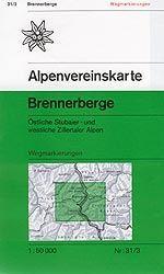 Brennerberge - Alpenvereinskarte 31/3