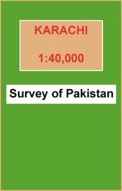 Karachi térkép - Survey of Pakistan