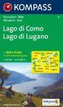 Lago di Como, Lago di Lugano turistatérkép (WK 91) - Kompass