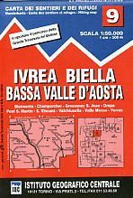 Ivrea - Biela - Lower Aosta Valley térkép (No 9) - IGC