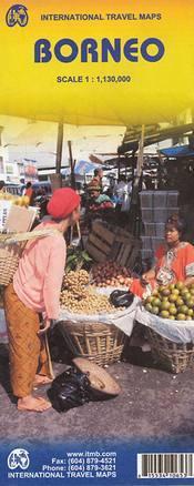 Borneó (Kalimantan) térkép - ITM