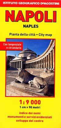 Nápoly térkép - De Agostini
