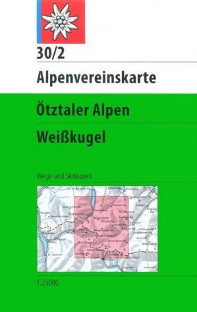 Ötztaler Alpen, Weißkugel - Alpenvereinskarte 30/2