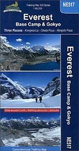 Everest alaptábor, Gokyo térkép - Nepa