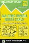 San Remo - Imperia - Monte Carlo térkép (No 14) - IGC